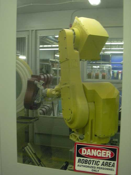 Robot Laser in Martin Guitar factory