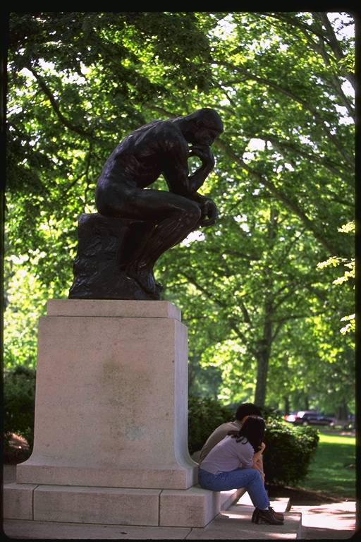 The Thinker by  Rodin in Philadelphia
