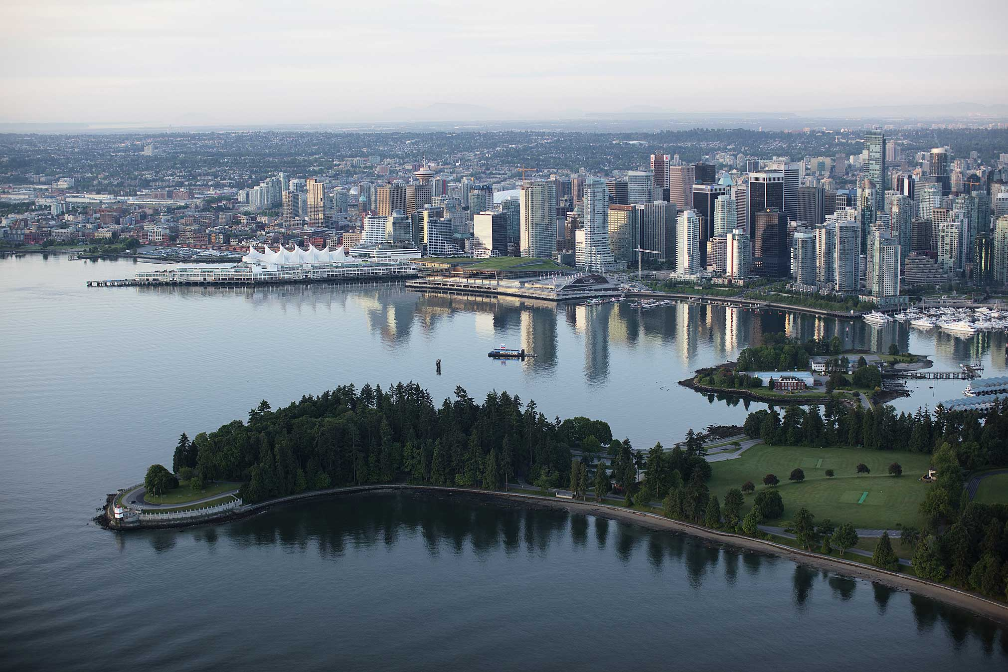 Vancouver waterfront, aerial view